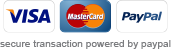 We now accept visa and mastercard